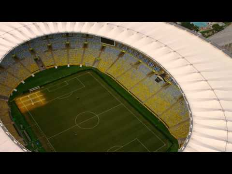 High-definition aerial shot of Maracanã Stadium - World Cup, Brazil.