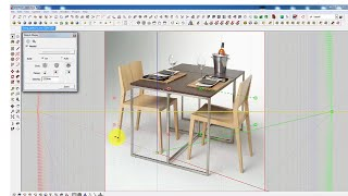 How to draw Chair and Table in Sketchup