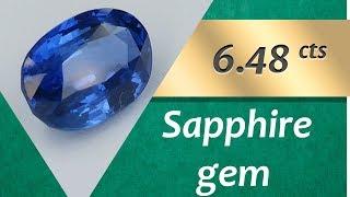 Sapphire Gem. 6.48 Carats Natural Gem of Sapphire