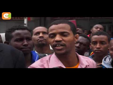 Chaos in Eastleigh, Nairobi as hawkers clash with shop owners