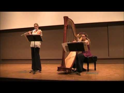 "David Kechley: ""Available Light"" for flute and harp movement 1: Frenetic Reflection"