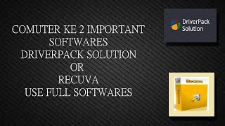 computer ke 2 important software delete file recover missing driver install