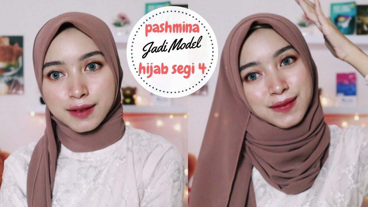 Tutorial Hijab Pashmina Menjadi Model Segi Empat Youtube