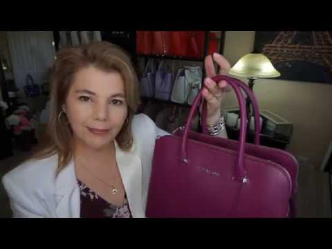 Michael Kors Houston Review in the New Color Garnet with 2nd Generation Saffiano leather