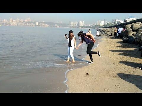 Juhu Chowpatty Beach Mumbai India 2017 Video || Marine Drive || Nariman Point Mumbai