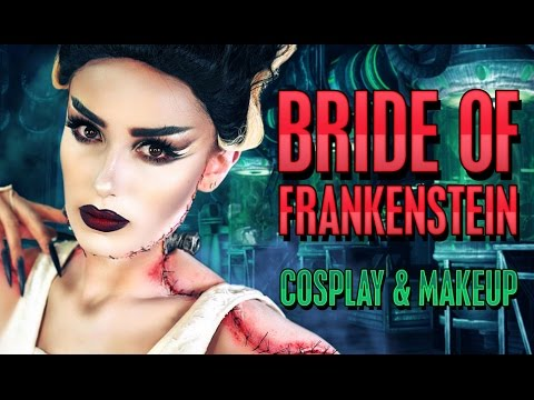 Bride Of Frankenstein Cosplay Costume Halloween Makeup