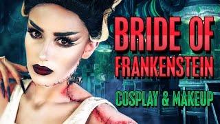 ❤️ Bride Of Frankenstein Cosplay Costume & Halloween Makeup Tutorial | Victoria Lyn Beauty