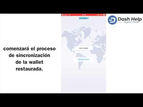 7- Como Restaurar La Wallet - Dash Wallet IOS #DashHelp