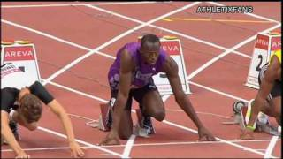 IAAF Diamond League (Paris) 100m M - Bolt vs Powell - 16/7/2010