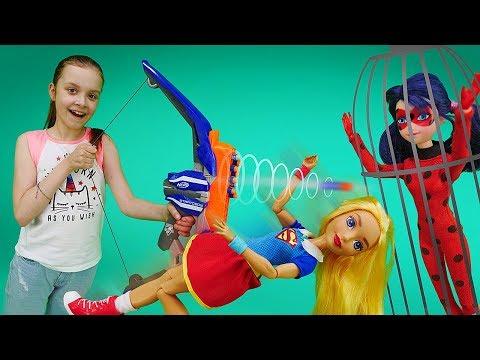 Леди Баг и Бражник в школе. Видео для девочек: шоу Охотники за игрушками.