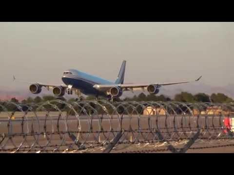 *Rare* Las Vegas Sands Corp. A340-541(VP-BMS) arrives at Las Vegas at dusk!