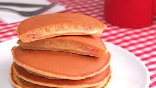 Tortitas Americanas Rellenas de Bacon Queso y Jamón | Hot Cakes | Pancakes