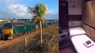 Night Riviera Sleeper Train Penzance - London Paddington in a Double Sleeping Cabin