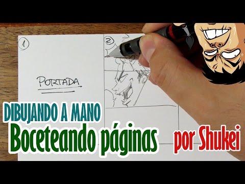 Dibujando Manga a mano - Boceteando páginas por @ShukeiArt