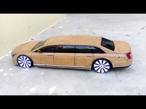 How to make Rc Car(Cadillac Limousine) Amazing Cardboard Diy