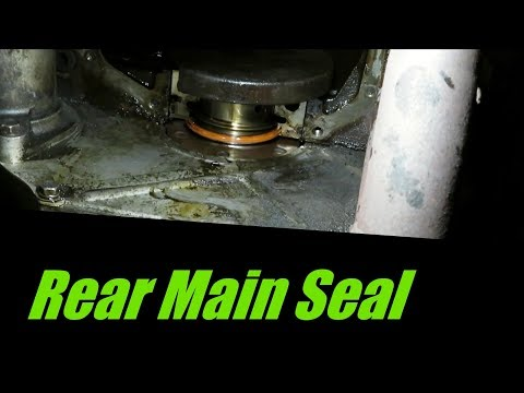 How To Fix & Replace Jeep Rear Main Seal and Oil Pan Gasket Leak