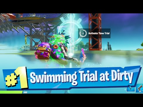 Complete the Swimming Time Trial at Dirty Docks Location Fortnite Battle Royale