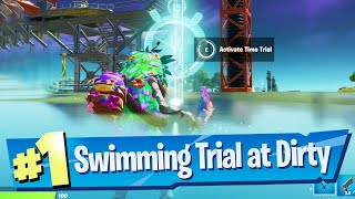 Complete the Swimming Time Trial at Dirty Docks Location - Fortnite Battle Royale