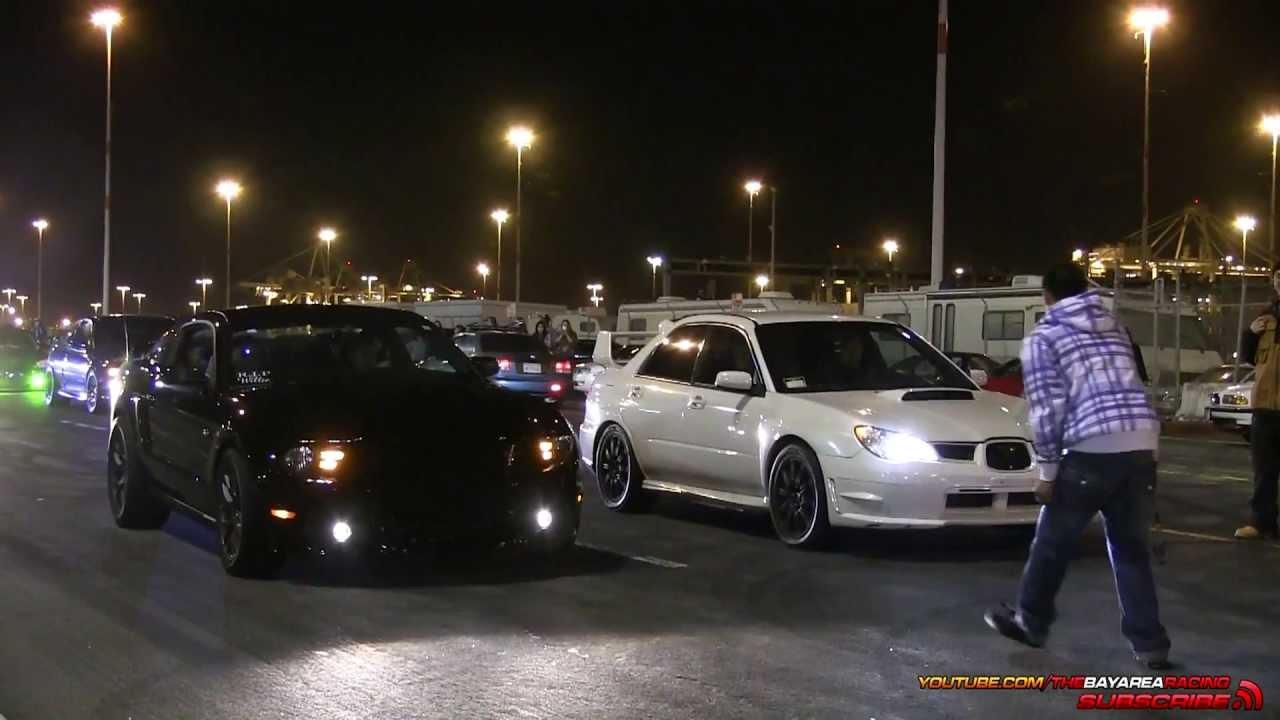 Subaru Wrx Sti Vs 5 0 Mustang Gt Youtube