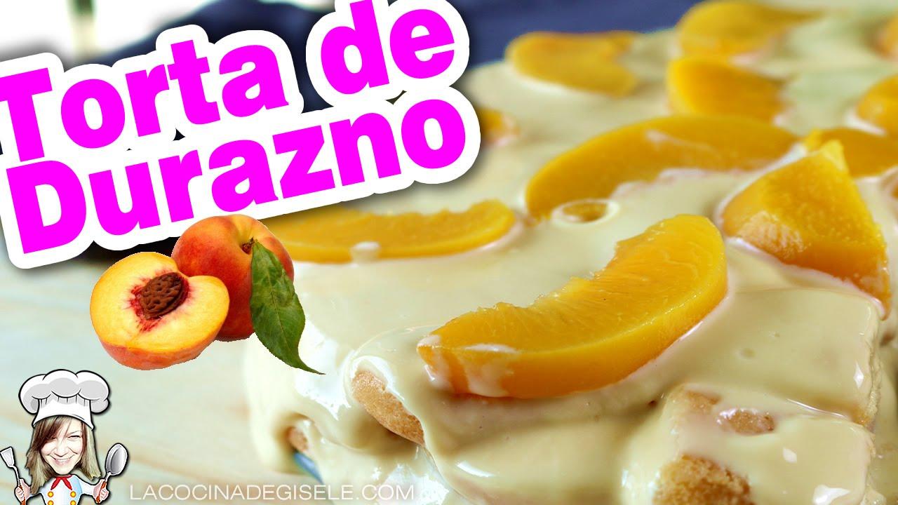 Torta de Duraznos en Almibar