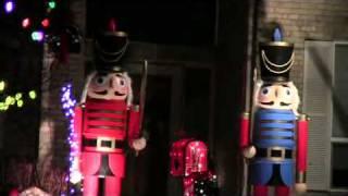 9' Homemade Nutcrackers, Christmas Display 2011