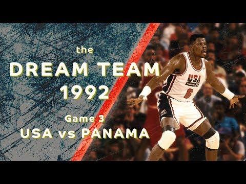"Dream Team 1992: ""Return to Olympus""/ Game 3/ USA vs PANAMA/ FULL GAME HIGHLIGHTS"