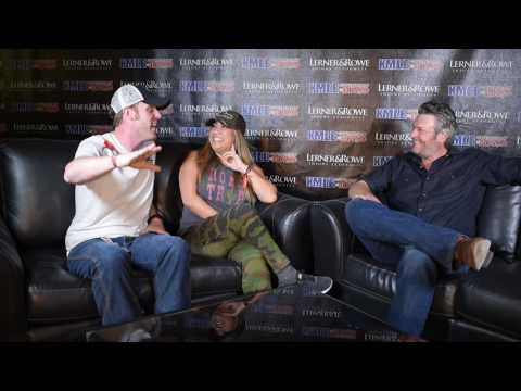 Blake Shelton Country Thunder interview with Chris and Nina jp