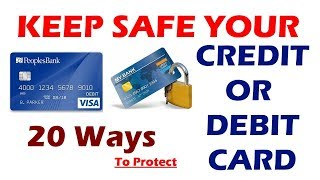 How to keep your Credit Card or Debit card(ATM Card) Safe from Skimmers - Credit card safety tips