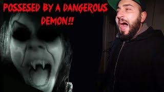 I BECAME POSSESSED BY A DEMON IN A HAUNTED PIANO FACTORY!! (caught on camera)