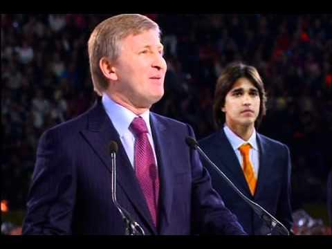 Rinat Akhmetov speech at 75th anniversary of FC Shakhtar