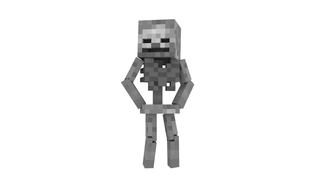 Blender Skeleton Timelapse (Minecraft Animation) - YouTube