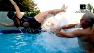 Каркасный бассейн Intex 3 недели после установки ВСЕ КРУТО! Intex pool ALL COOL!(Каркасный бассейн Intex 457х122. Прошло 3 недели после установки. Вода - 30 градусов, чистая. Все круто. Прыгаем,..., 2016-07-18T01:34:49.000Z)
