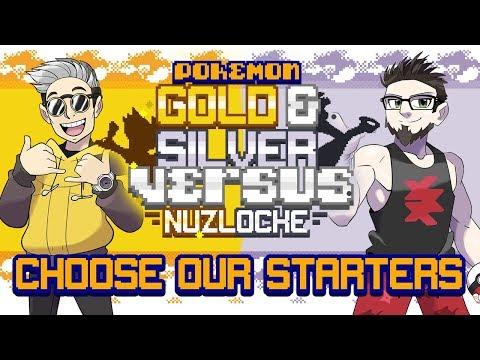 CHOOSE OUR STARTERS! • Pokemon Gold and Silver Randomizer Nuzlocke Versus!