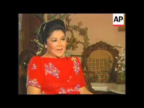 PHILIPPINES: IMELDA MARCOS DEFENDS HER LATE HUSBAND
