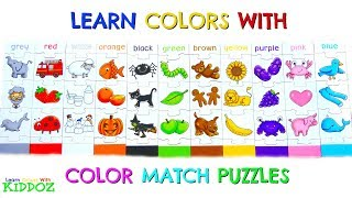Learn Colors With COLOR MATCHING PUZZLES