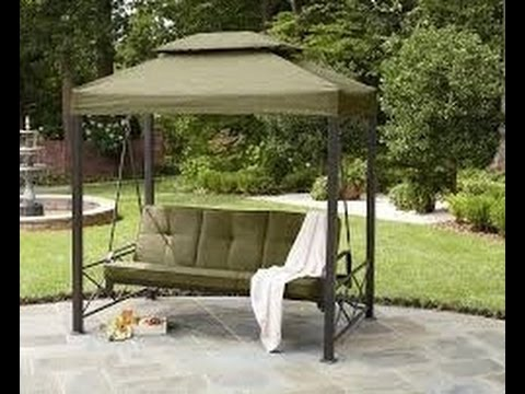 Sears Patio Swing Cushion Cover Replacement & Sears Patio Swing Cushion Cover Replacement - YouTube
