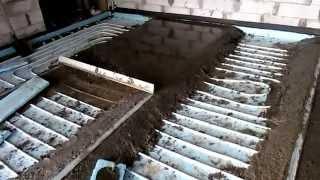 Водяной теплый пол в гараже, своими руками заливка стяжки