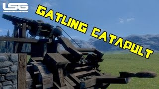 Medieval Engineers - Automatic Gatling Catapult