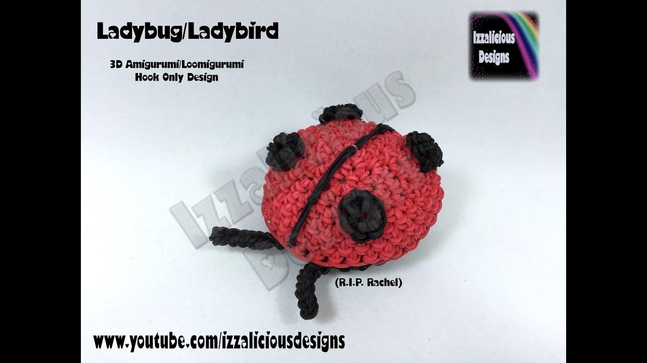 Amigurumi Monster Crochet Patterns : Rainbow Loom Ladybug Ladybird Loomigurumi Amigurumi ...