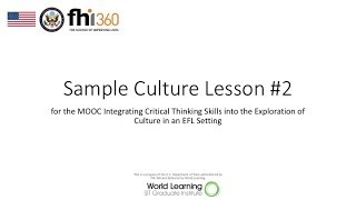 Sample Lesson Plan #2