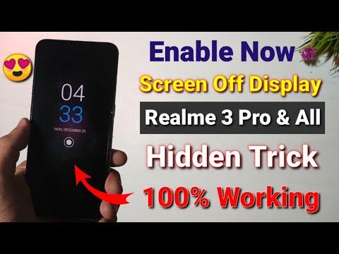 Realme Ui enable screen off display Realme 3 pro | how to enable screen off display in Realme 3 pro