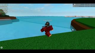 Me and me mate on roblox. (a very simple game.)