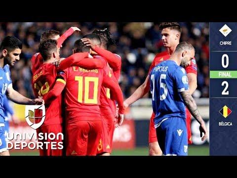 Chipre 0-2 Bélgica - GOLES Y RESUMEN - ELIMINATORIAS - Eurocopa 2020