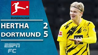 GOLDEN BOY Erling Haaland scores FOUR in Borussia Dortmund win | ESPN FC Bundesliga Highlights