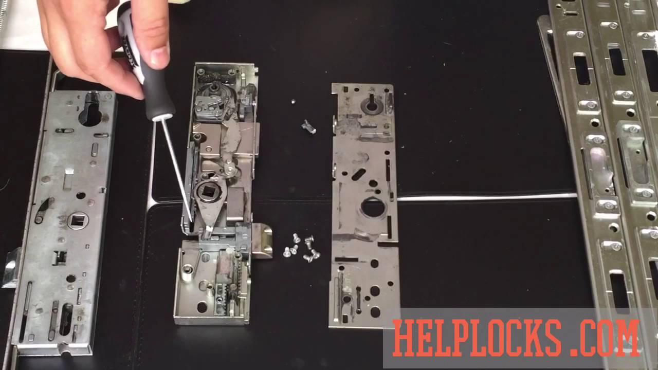 Inside a uPVC door mechanism https://helplocks.com - YouTube