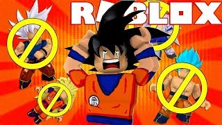 ROBLOX: I LOST ALL THE TRANSFORMATIONS OF DRAGON BALL-Dragon Ball in Roblox ‹ chicken ›