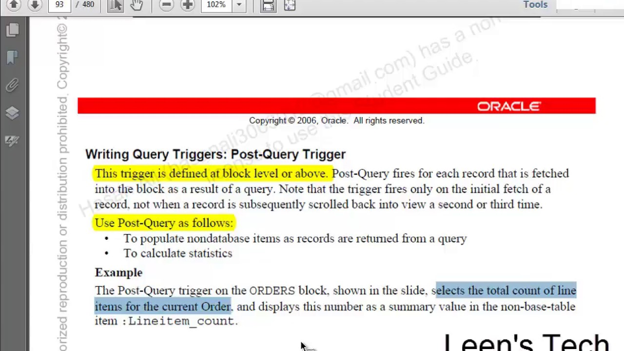 Oracle Forms 10g Tutorial in Bangla: Post Query Trigger