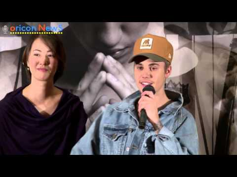 Justin Bieber press conference in JAPAN long ver.
