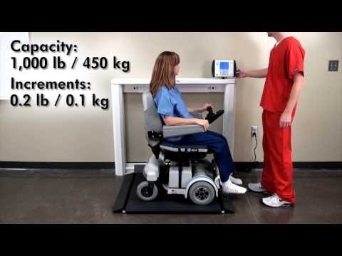 7550 Wheelchair Scale Demo
