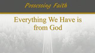 Possessing Faith